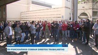 Ex-funcionários de fábrica de baterias que faliu cobram direitos trabalhistas