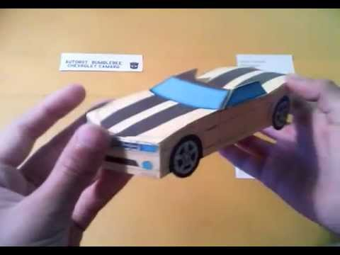 Машины из бумаги шевроле снимок