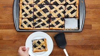 Blueberry Slab Pie by Tasty