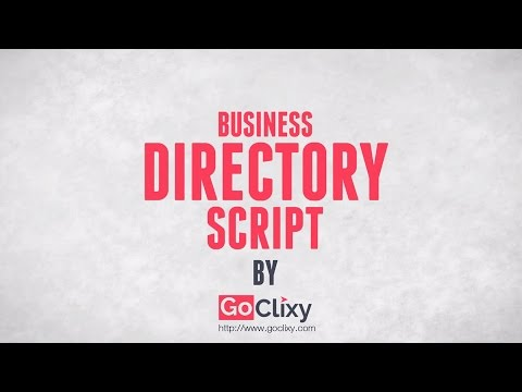 Business Directory Script - To Build Your Own Directory Websites