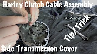 In this free DIY video we show you how to remove your Harley side transmission cover and an easy way to disconnect & then replace your Harley clutch cable inside.  Make sure you have a new side cover gasket ready to go and some oil/fluid to replace what you loose when removing the side transmission cover. There is also a small rubber o-ring you might want to have on hand to replace where the clutch cable enters the side cover. It tends to get damaged during removal/install. It can be re-used if it looks like it's in good condition.Video of Interest:(You may have to remove the entire assembly & we've got you covered)GET THAT VIDEO HERE: https://www.lawabidingbiker.com/harleyclutchcableassemblyGET OUR HARLEY HANDLEBAR INSTALL VIDEOS HERE: http://www.lawabidingbiker.com/harleyhandlebarsGET OUR OTHER HELPFUL FOR PURCHASE VIDEOS HERE: http://www.lawabidingbiker.com/buyvideosVISIT OUR STORE HERE: https://shop.lawabidingbiker.comBECOME A PATRON MEMBER AND GET EXCLUSIVE ACCESS: https://www.patreon.com/scrappyLEAVE A FLAT DONATION: http://www.lawabidingbiker.com/donate2014 & newer Harley Davidson's have hydraulic clutches, so this side transmission cover is just for looks and you'll lose no oil when removing it. There is just a bleeder valve for the hydraulic clutch line hidden behind it.This particular segment of video is taken directly from our #1 ranked Harley Handlebar install series of videos. If you think this free video of ours is detailed, you really need to see our premium videos! We have you completely covered, regardless of what type or height of handlebars you want to install on your Harley. Trust us, there is no need to take your Harley to a dealership and pay $1,000 to $2,0oo to have them do this for you. You can do it right in your shop or garage, right on the kickstand, and no specialty tools are required. Bikers around the world are installing the handlebars of their dreams themselves right now on their Harley's while watching our tutorial videos. Have the p