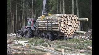 Video Logging with Valtra A93 forestry tractor, large trailer MP3, 3GP, MP4, WEBM, AVI, FLV Desember 2018