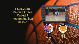 kk sava škk zvezdara 36 71 (kadeti 2, 14 01 2018 ) košarkaški klub sava