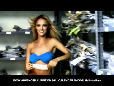 Evox 2011 calendar shoot with Melinda Bam