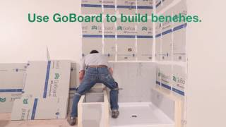 Building Benches and Shower Walls with GoBoard