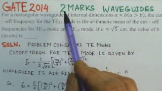 Video Solution to GATE 2014 Problem - Waveguides - Electromagnetics
