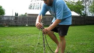 This is the most common Ojibwa bird pole/snare you see in books and on the web. Not the simplest of snares to produce, especially in quantities, but they wil...