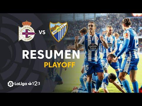 Resumen de RC Deportivo vs Málaga CF (4-2)