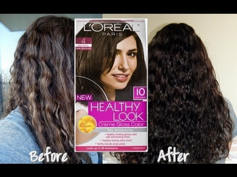 LOREAL HAIR DYE - Product link and more pictures on my blog: http://glam-me-upxo.blogspot.com/2012/01/diyvideo-dye-your-hair-at-home-loreal.html You can find L'oreal Healthy L...