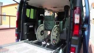 Podlahový systém M1 + Multifunkční sedadla 001 ve voze OPEL Vivaro B, rampa BRG, kotvení Q 8100