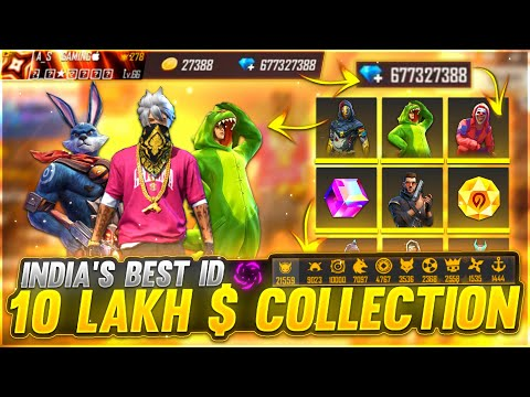 10 Lakh $ Collection Indian No. 1 Best Collection💎 | A_s Gaming Collection Top 1 - Garena Free Fire