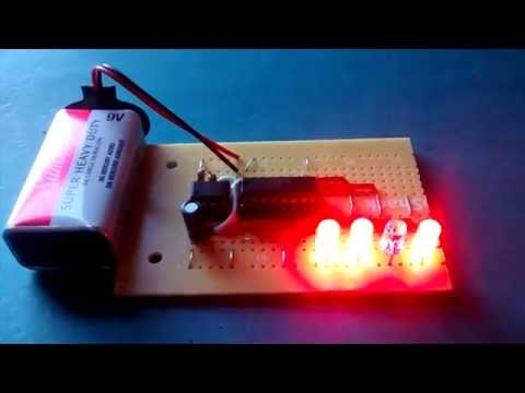 4-bit Binary Counter (4029 + 555)