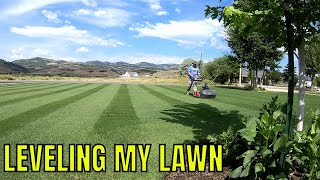 Video How to TOP DRESS your lawn to make a FLAT LEVEL surface MP3, 3GP, MP4, WEBM, AVI, FLV Juli 2019