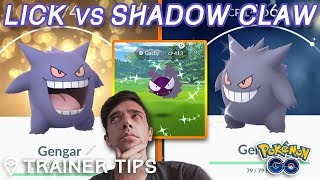 LICK vs SHADOW CLAW GENGAR - WHICH IS ACTUALLY BETTER? (Pokémon GO) by Trainer Tips