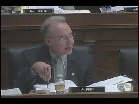 Rep. Tom Price admonishes govt-takeover of healthcare