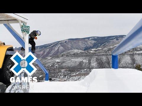 Men's Snowboard Slopestyle: FULL BROADCAST | X Games Aspen 2018 (видео)
