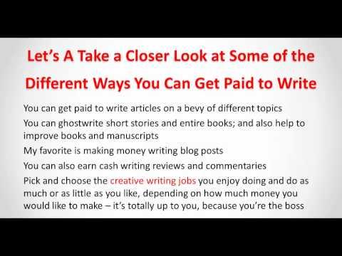Make Money Blogging Doing Creative Writing Jobs