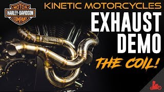 8. Harley-Davidson Exhaust Demo: 'The Coil' by Kinetic Motorcycles