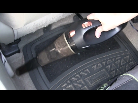 Portable Handheld Car Vacuum Cleaner Review and Demonstration - HOTOR Wet/Dry Car Lighter Vacuum