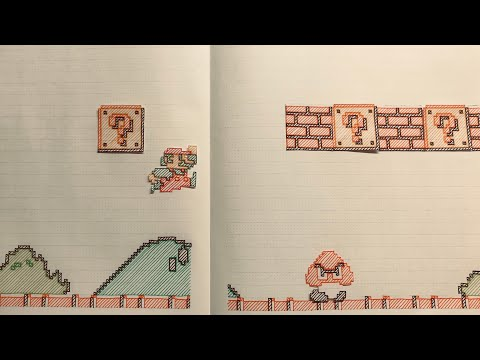 Amazing HandDrawn Super Mario Bros StopMotion