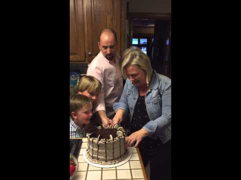 Mom of 6 boys finds out she's having a GIRL!  Watch her reaction!