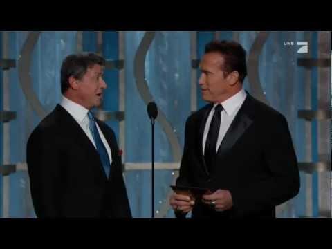 Sylvester Stallone & Arnold Schwarzenegger Present at the 2013 Golden Globes