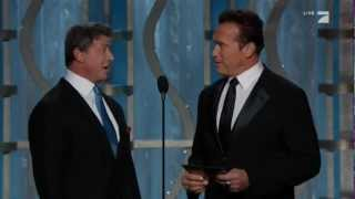 Sylvester Stallone & Arnold Schwarzenegger Present at the 2013 Golden Globes