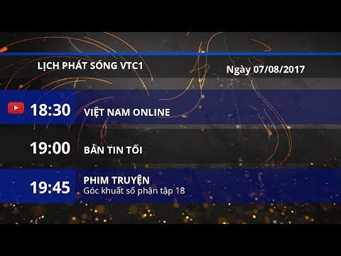 Lịch phát sóng VTC1 ngày 07/08/2017 | VTC1 - Thời lượng: 2 phút, 22 giây.