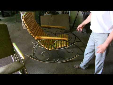 Кресло качалка из металлического профиля