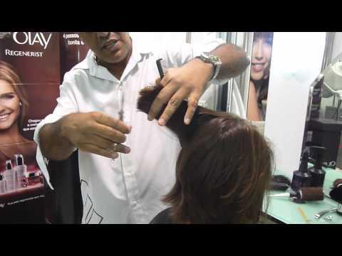 corte de cabelo  channel bico desfiado
