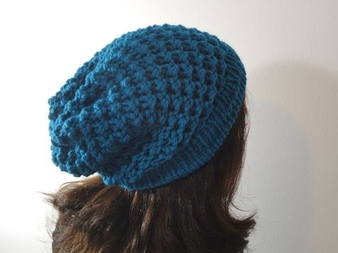 hat - This step-by-step tutorial shows you how to knit a slouchy beanie hat using a circular loom of 29cm diameter and 41 pegs. In this tutorial you will learn: - ...