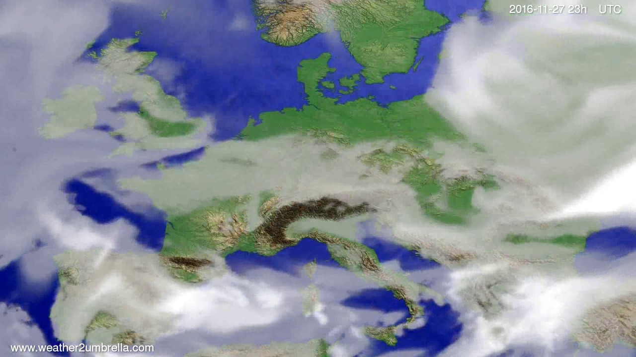 Cloud forecast Europe 2016-11-24