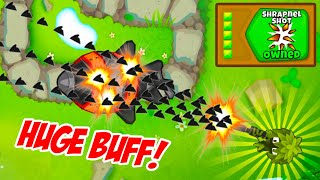 The NEW Shrapnel SNIPER Tower is OVERPOWERED in Bloons TD6