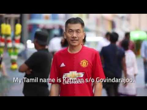 Chinese Man Speaks Tamil. Kannan S/o Govindarajoo Aka Harry Koh Eng Whatt