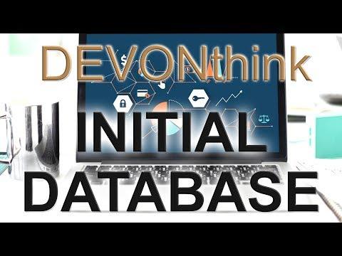 DEVONthink Initial Database Setup and Helpful Tips