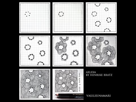 VASILISINAMARI zentangle tutorial pattern \