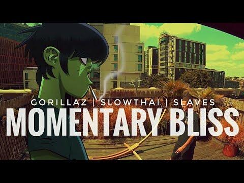 Gorillaz - Momentary Bliss (Lyrics) ft. Slowthai & Slaves   Episode One