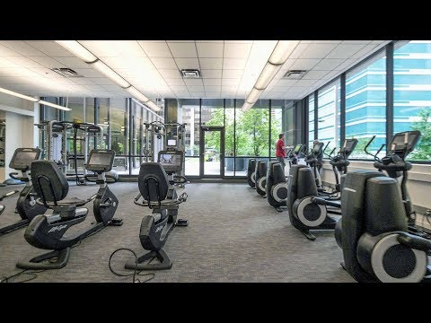 The freshly-updated fitness facilities at McClurg Court in Streeterville