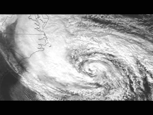 Cảnh tượng kinh hoàng của siêu bão Sandy nhìn từ vũ trụ