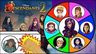 Video Disney DESCENDANTS 2 Dolls & Toys Spinning Wheel Game | Surprise Toys Kids Games MP3, 3GP, MP4, WEBM, AVI, FLV Juni 2019
