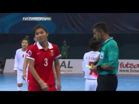 [Highlights] Giải Futsal nữ châu Á 2015, Việt Nam vs Trung Quốc 2-3