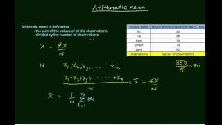 Arithmetic mean (AM) is defined as the sum of the values of all the observations divided by the number of observations. AM is the...