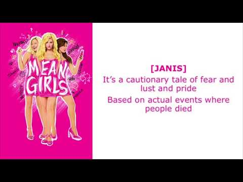 A Cautionary Tale Lyrics Video - Original Broadway Cast of Mean Girls