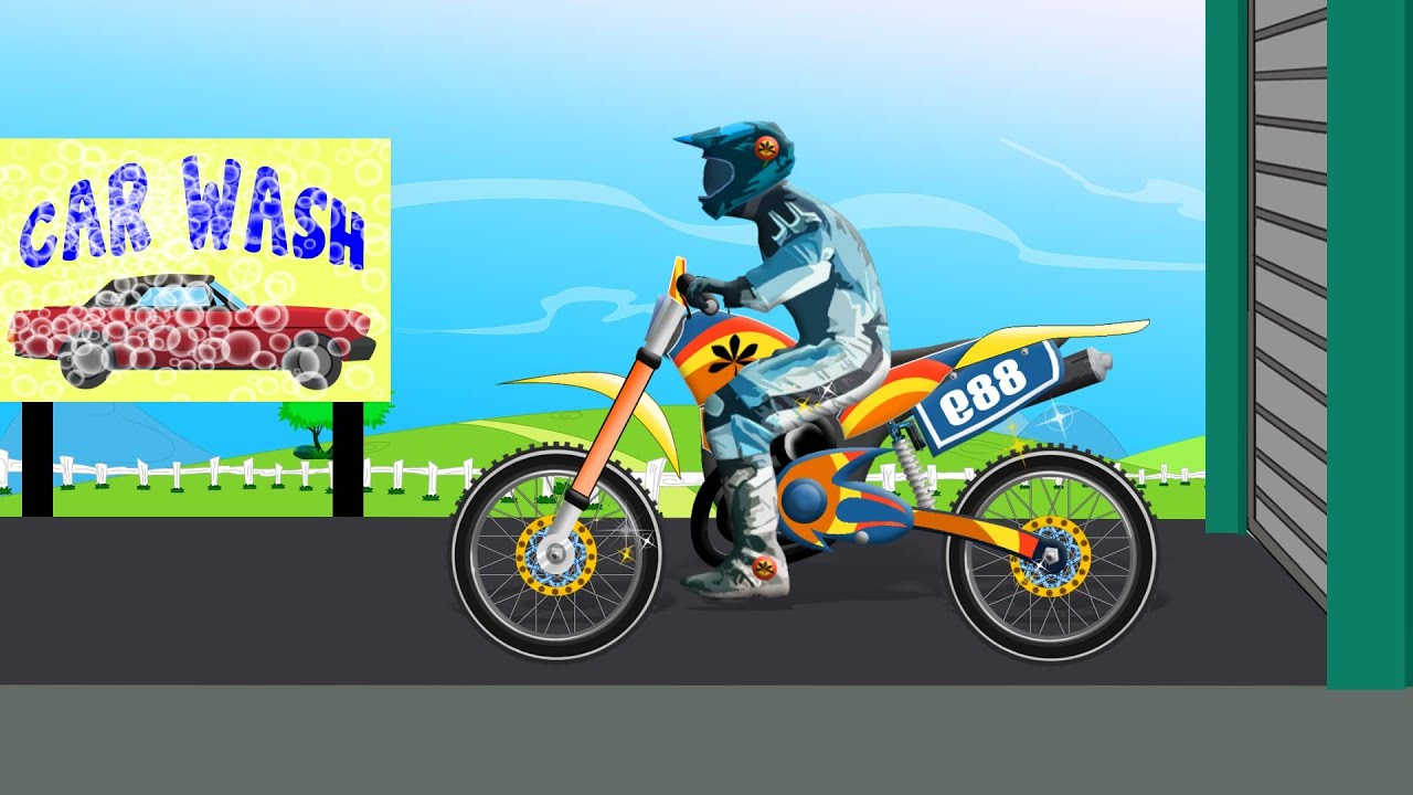 Bike Car Wash | Toy Bike For Kids | Videos For Children | Baby Videos