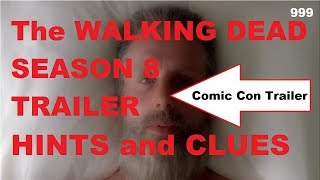 The Walking Dead Season 8 - Trailer HINTS and CLUES. The Comic Con trailer has been released and we are preparing for ALL OUT WAR. Daryl and Rick storm the Sanctuary. Michonne and Rosita take on Jadis! Could Shiva be one of the first to go? Is Rick in a coma or will we time skip???