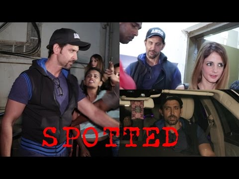 Hrithik Roshan | Sussanne Khan | Zayed Khan Spotted At Juhu PVR