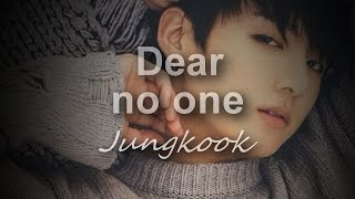 Jungkook Dear no one (cover) [lyrics]