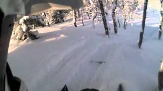 10. HELLRIDERS Polaris Rmk 600 Playing In Powder POV