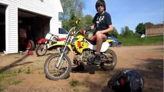 9. suzuki Drz 110 pit bike.