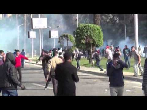 students - Egyptian police fired tear gas to disperse students protesting in support of the country's ousted president outside Cairo University on Tuesday, as unrest sp...
